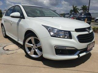 2015 Holden Cruze JH Series II MY15 SRi-V White 6 Speed Sports Automatic Hatchback.
