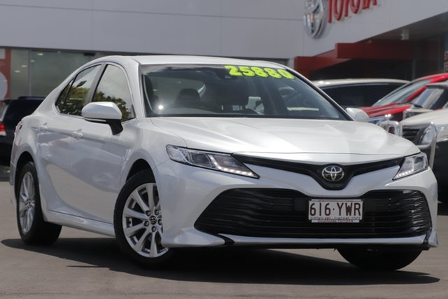 Used Toyota Camry ASV70R Ascent, 2018 Toyota Camry ASV70R Ascent Pearl White 6 Speed Sports Automatic Sedan