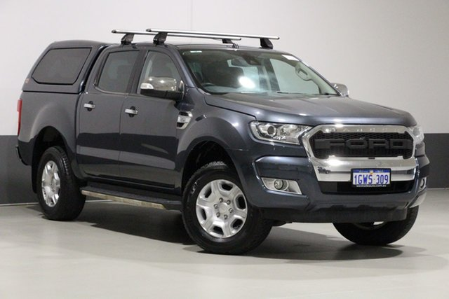Used Ford Ranger PX MkII XLT 3.2 (4x4), 2016 Ford Ranger PX MkII XLT 3.2 (4x4) Grey 6 Speed Automatic Dual Cab Utility