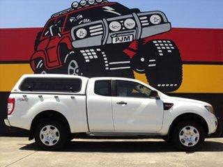2012 Ford Ranger PX XL Super Cab Glacier White 6 Speed Manual Utility.