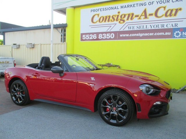 Used Abarth 124 348 Spider, 2016 Abarth 124 348 Spider Red 6 Speed Manual Roadster