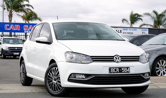 Used Volkswagen Polo 6R MY17 66TSI DSG Trendline, 2016 Volkswagen Polo 6R MY17 66TSI DSG Trendline White 7 Speed Sports Automatic Dual Clutch