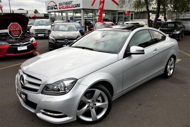 Used Mercedes-Benz C-Class C204 MY14 C250 CDI 7G-Tronic, 2014 Mercedes-Benz C-Class C204 MY14 C250 CDI 7G-Tronic Silver 7 Speed Sports Automatic Coupe