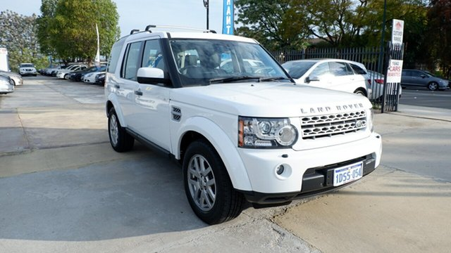 Used Land Rover Discovery 4 Series 4 MY11 TdV6 CommandShift, 2011 Land Rover Discovery 4 Series 4 MY11 TdV6 CommandShift White 6 Speed Sports Automatic Wagon