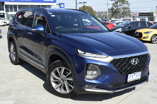 Used Hyundai Santa Fe TM MY19 Elite, 2018 Hyundai Santa Fe TM MY19 Elite Blue 8 Speed Sports Automatic Wagon