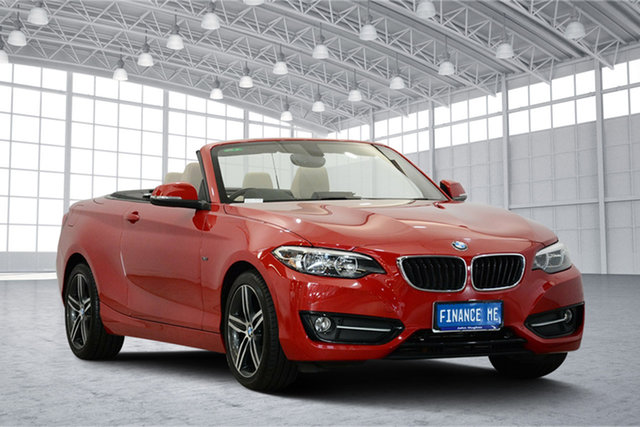 Used BMW 2 Series F23 220i Sport Line, 2015 BMW 2 Series F23 220i Sport Line Red 8 Speed Sports Automatic Convertible