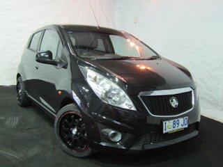 2010 Holden Barina Spark MJ MY11 CD Carbon Flash Black 5 Speed Manual Hatchback.