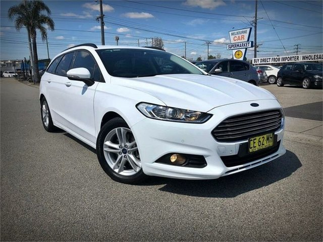 Used Ford Mondeo MD Ambiente, 2015 Ford Mondeo MD Ambiente White Sports Automatic Dual Clutch Wagon