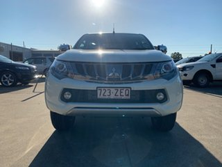 2018 Mitsubishi Triton MQ MY18 GLS Double Cab White 6 Speed Manual Utility