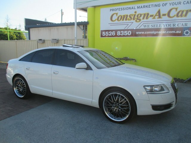 Used Audi A6 4F Tiptronic Quattro, 2006 Audi A6 4F Tiptronic Quattro White 6 Speed Sports Automatic Sedan