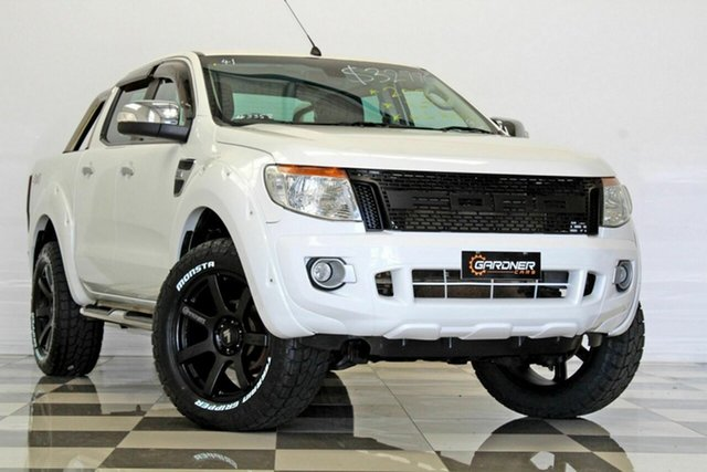 Used Ford Ranger PX XLT 3.2 (4x4), 2012 Ford Ranger PX XLT 3.2 (4x4) White 6 Speed Automatic Dual Cab Utility