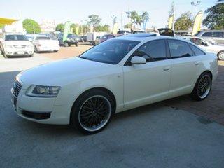 2006 Audi A6 4F Tiptronic Quattro White 6 Speed Sports Automatic Sedan.
