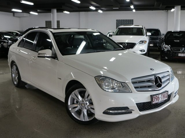 Used Mercedes-Benz C-Class W204 MY12 C200 BlueEFFICIENCY 7G-Tronic +, 2012 Mercedes-Benz C-Class W204 MY12 C200 BlueEFFICIENCY 7G-Tronic + White 7 Speed Sports Automatic