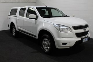 2016 Holden Colorado RG MY16 LS Crew Cab 4x2 Summit White 6 Speed Manual Utility.