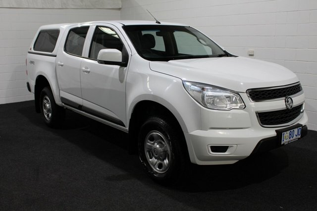 Used Holden Colorado RG MY16 LS Crew Cab 4x2, 2016 Holden Colorado RG MY16 LS Crew Cab 4x2 Summit White 6 Speed Manual Utility
