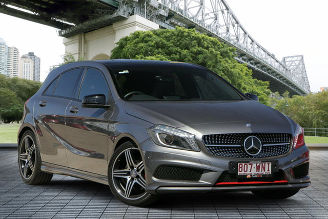 Used Mercedes-Benz A-Class W176 A250 D-CT Sport, 2014 Mercedes-Benz A-Class W176 A250 D-CT Sport Grey 7 Speed Sports Automatic Dual Clutch Hatchback