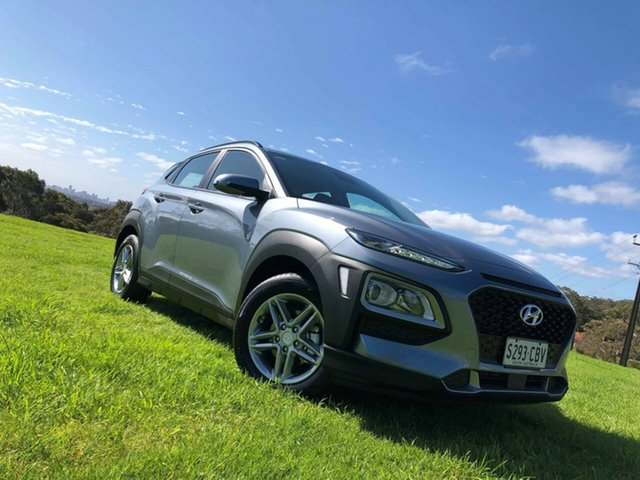 Demo Hyundai Kona OS.2 MY19 Active 2WD, 2019 Hyundai Kona OS.2 MY19 Active 2WD Lake Silver 6 Speed Sports Automatic Wagon