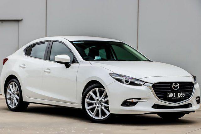 Used Mazda 3 BN5238 SP25 SKYACTIV-Drive GT, 2016 Mazda 3 BN5238 SP25 SKYACTIV-Drive GT White, Crystal Pearl 6 Speed Sports Automatic Sedan