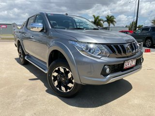 2018 Mitsubishi Triton MQ MY18 Exceed Double Cab Grey 5 Speed Sports Automatic Utility.