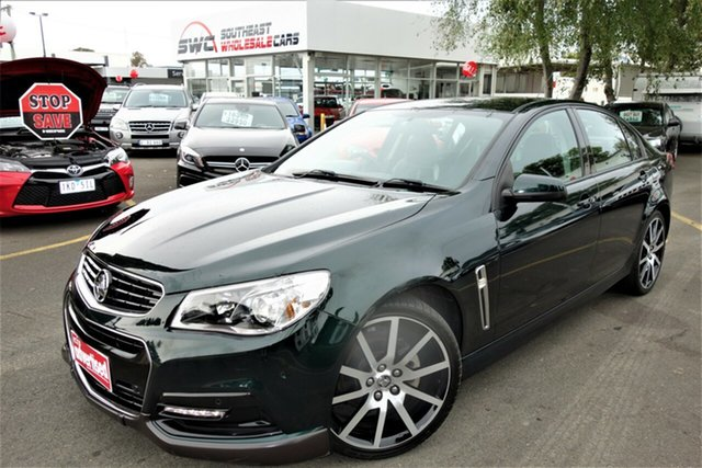 Used Holden Commodore VF MY14 SV6, 2014 Holden Commodore VF MY14 SV6 Green 6 Speed Manual Sedan
