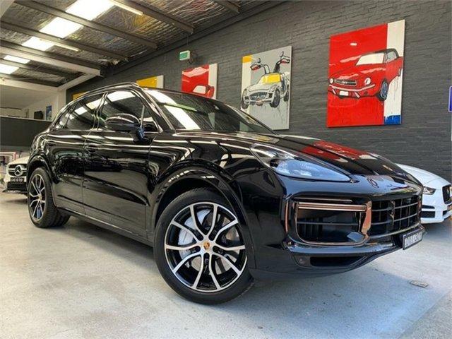 Used Porsche Cayenne  Turbo, 2018 Porsche Cayenne 9YA Turbo Jet Black Sports Automatic Wagon