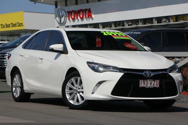 Used Toyota Camry ASV50R Atara S, 2015 Toyota Camry ASV50R Atara S Diamond White 6 Speed Sports Automatic Sedan