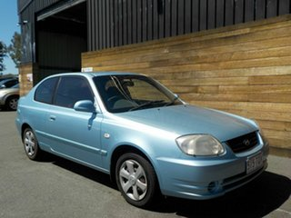 2005 Hyundai Accent LC MY04 GL Blue 4 Speed Automatic Hatchback.