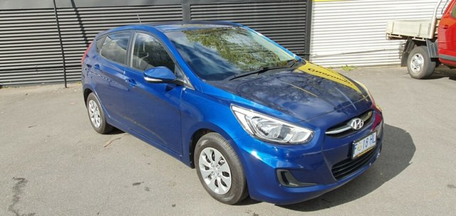 Used Hyundai Accent RB3 MY16 Active, 2016 Hyundai Accent RB3 MY16 Active Dazzling Blue 6 Speed Constant Variable Hatchback
