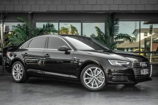 2016 Audi A4 B9 8W MY16 Sport S Tronic Black 7 Speed Sports Automatic Dual Clutch Sedan.