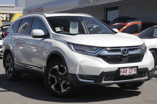 Demo Honda CR-V RW MY19 VTi-LX 4WD, 2019 Honda CR-V RW MY19 VTi-LX 4WD Platinum White 1 Speed Constant Variable Wagon