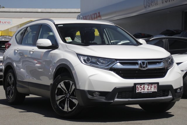 Demo Honda CR-V RW MY19 VTi FWD, 2019 Honda CR-V RW MY19 VTi FWD Platinum White 1 Speed Constant Variable Wagon