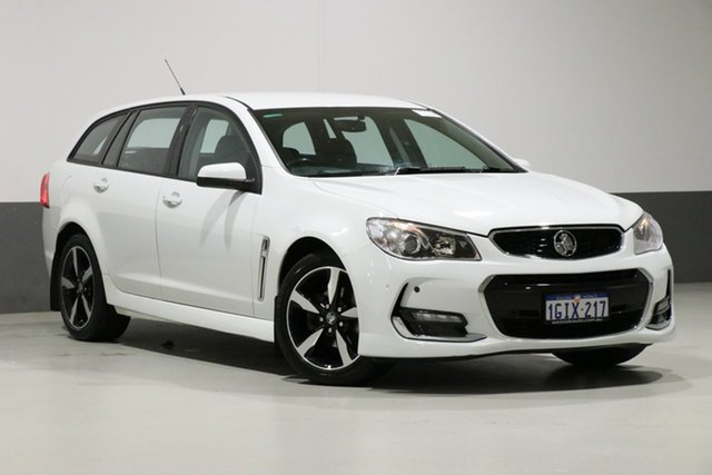 Used Holden Commodore VF II MY17 SV6, 2017 Holden Commodore VF II MY17 SV6 White 6 Speed Automatic Sportswagon