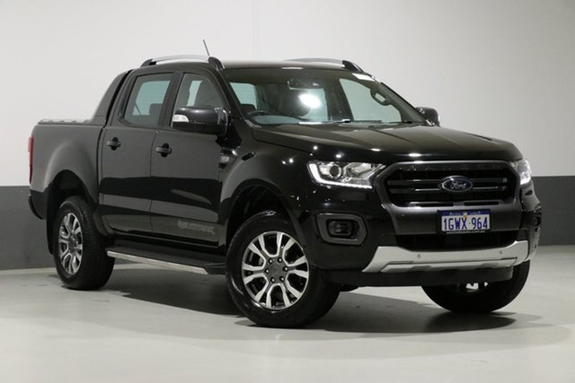 Used Ford Ranger PX MkIII MY19 Wildtrak 3.2 (4x4), 2018 Ford Ranger PX MkIII MY19 Wildtrak 3.2 (4x4) Black 6 Speed Automatic Dual Cab Pick-up