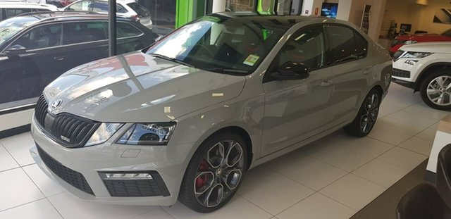 New Skoda Octavia NE MY19 RS Sedan DSG 180TSI, 2019 Skoda Octavia NE MY19 RS Sedan DSG 180TSI Grey 7 Speed Sports Automatic Dual Clutch Liftback