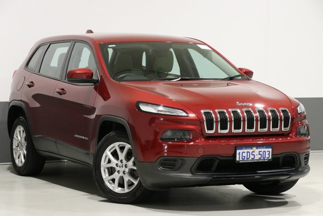 Used Jeep Cherokee KL MY16 Sport (4x2), 2016 Jeep Cherokee KL MY16 Sport (4x2) Red 9 Speed Automatic Wagon