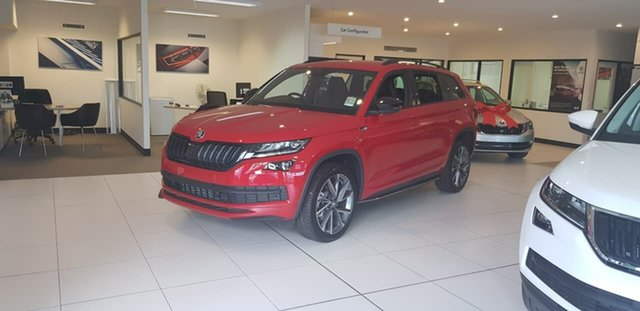 New Skoda Kodiaq NS MY19 132TSI DSG Sportline, 2019 Skoda Kodiaq NS MY19 132TSI DSG Sportline Red 7 Speed Sports Automatic Dual Clutch Wagon