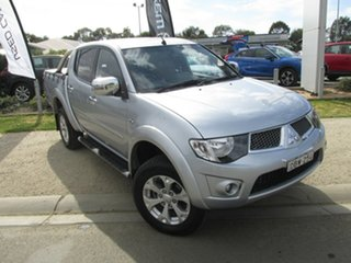 2015 Mitsubishi Triton MN MY15 GLX-R Double Cab Silver 5 Speed Manual Utility.