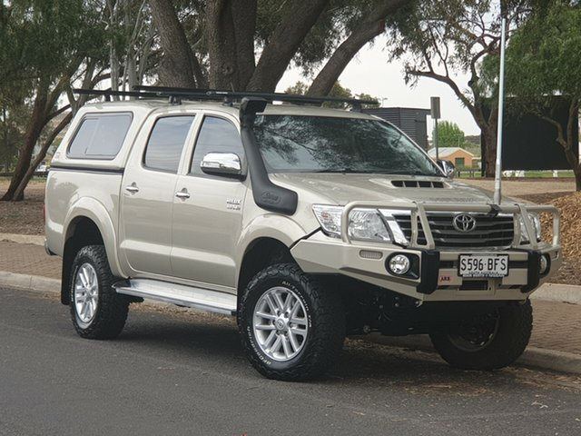 Used Toyota Hilux KUN26R MY14 SR5 Double Cab, 2014 Toyota Hilux KUN26R MY14 SR5 Double Cab Gold 5 Speed Automatic Utility