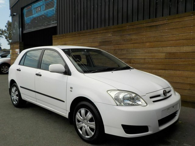 Used Toyota Corolla ZZE122R 5Y Ascent, 2005 Toyota Corolla ZZE122R 5Y Ascent White 5 Speed Manual Hatchback