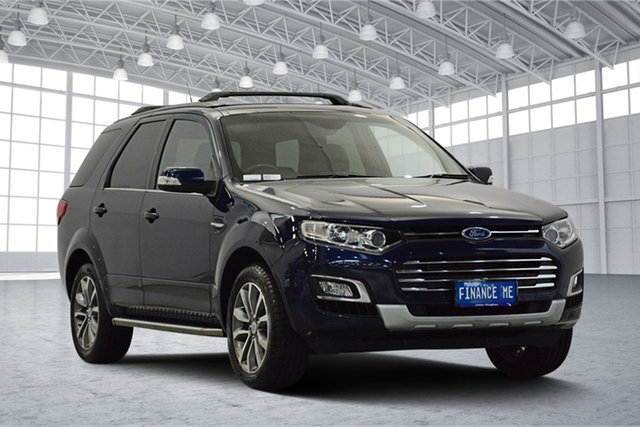 Used Ford Territory SZ MkII Titanium Seq Sport Shift, 2015 Ford Territory SZ MkII Titanium Seq Sport Shift Blue 6 Speed Sports Automatic Wagon