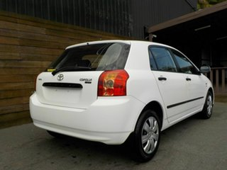 2005 Toyota Corolla ZZE122R 5Y Ascent White 5 Speed Manual Hatchback.