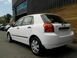 2005 Toyota Corolla ZZE122R 5Y Ascent White 5 Speed Manual Hatchback