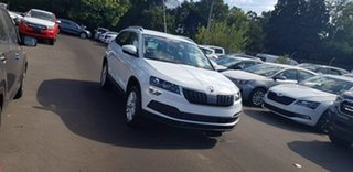 2019 Skoda Karoq NU MY19 110TSI DSG FWD White 7 Speed Sports Automatic Dual Clutch Wagon.