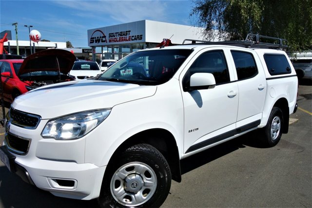 Used Holden Colorado RG MY14 LX Crew Cab 4x2, 2014 Holden Colorado RG MY14 LX Crew Cab 4x2 White 6 Speed Manual Utility