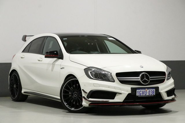 Used Mercedes-Benz A45 176 MY14 AMG, 2014 Mercedes-Benz A45 176 MY14 AMG White 7 Speed Auto Dual Clutch Hatchback