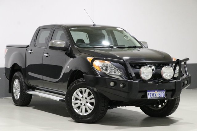 Used Mazda BT-50 MY13 XTR (4x4), 2015 Mazda BT-50 MY13 XTR (4x4) Black 6 Speed Automatic Dual Cab Utility