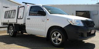 2013 Toyota Hilux TGN16R MY14 Workmate 4x2 White 4 Speed Automatic Cab Chassis