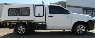 2013 Toyota Hilux TGN16R MY14 Workmate 4x2 White 4 Speed Automatic Cab Chassis.