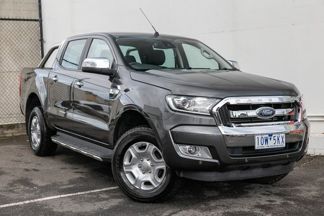 Used Ford Ranger PX MkII 2018.00MY XLT Double Cab, 2018 Ford Ranger PX MkII 2018.00MY XLT Double Cab Grey 6 Speed Manual Utility