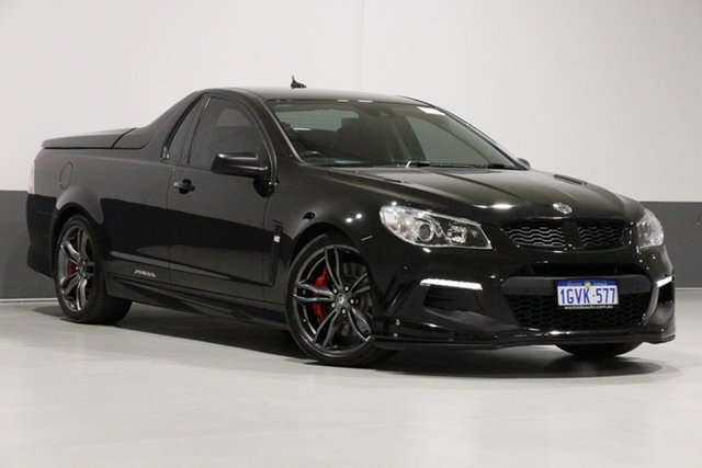 Used Holden Special Vehicles Maloo Gen F2 R8 LSA, 2015 Holden Special Vehicles Maloo Gen F2 R8 LSA Black 6 Speed Manual Utility